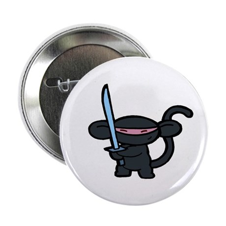 "Black Ninja Minky 2.25"" Button (100 pack)"