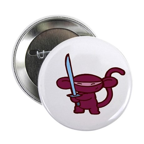 "Red Ninja Minky 2.25"" Button (10 pack)"