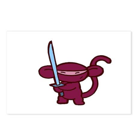 Red Ninja Minky Postcards (Package of 8)