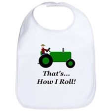 Green Tractor How I Roll Bib