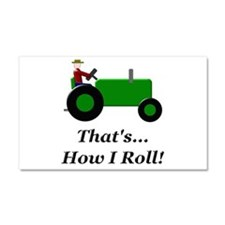 Green Tractor How I Roll Car Magnet 20 x 12