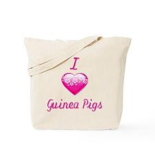 I Love/Heart Guinea Pigs Tote Bag