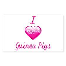 I Love/Heart Guinea Pigs Decal