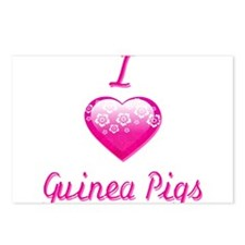 I Love/Heart Guinea Pigs Postcards (Package of 8)