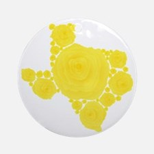 Yellow Rose of Texas Ornament (Round)