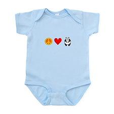 Peace Love Pandas Infant Bodysuit