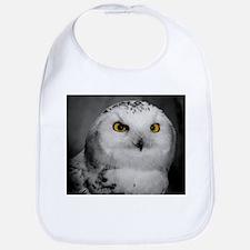 Funny Snowy owl Bib