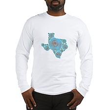 Texas Blue Rose Long Sleeve T-Shirt
