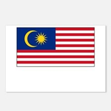 Malaysia Flag Picture Postcards (Package of 8)