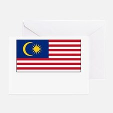 Malaysia Flag Picture Greeting Cards (Pk of 10