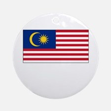 Malaysia Flag Picture Ornament (Round)