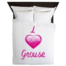 I Love/Heart Grouse Queen Duvet