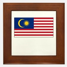 Malaysia Flag Picture Framed Tile