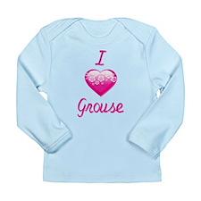 I Love/Heart Grouse Long Sleeve Infant T-Shirt