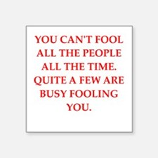 "fool Square Sticker 3"" x 3"""