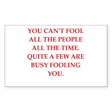 fool Sticker (Rectangle 50 pk)
