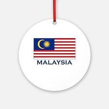 Malaysia Flag Gear Ornament (Round)