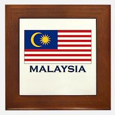 Malaysia Flag Gear Framed Tile