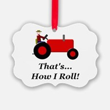 Red Tractor How I Roll Ornament