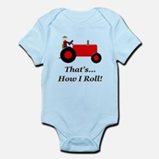 Red Tractor How I Roll Infant Bodysuit