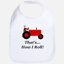 Red Tractor How I Roll Bib