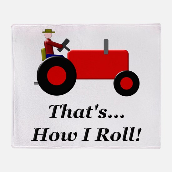 Red Tractor How I Roll Throw Blanket