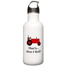Red Tractor How I Roll Water Bottle