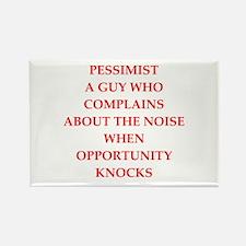 pessimist Rectangle Magnet