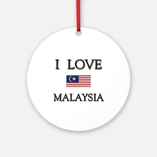 I Love Malaysia Ornament (Round)