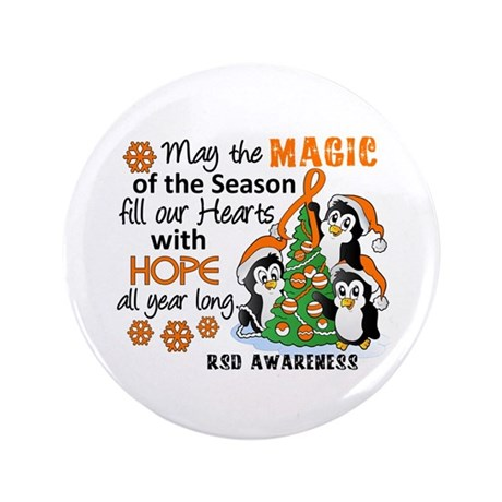 """Holiday Penguins RSD 3.5"""" Button (100 pack)"""