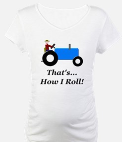 Blue Tractor How I Roll Shirt