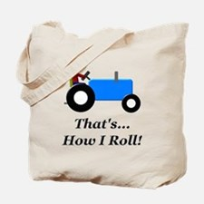 Blue Tractor How I Roll Tote Bag