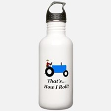 Blue Tractor How I Roll Water Bottle