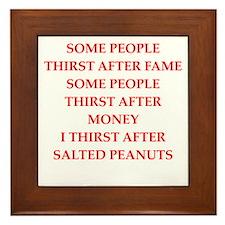 salted peanuts Framed Tile