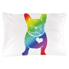 French Bulldog Love Cartoon RAINBOW Pillow Case