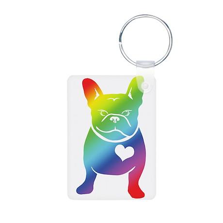 French Bulldog Love Cartoon RAINBOW Aluminum Photo