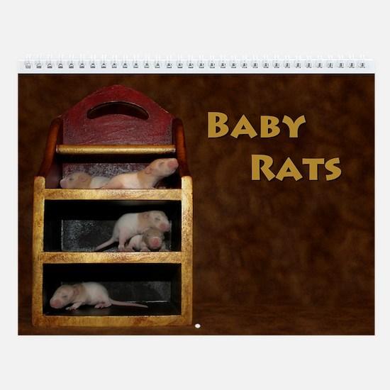 Baby Rats Wall Calendar