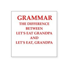 "grammar Square Sticker 3"" x 3"""