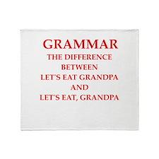 grammar Throw Blanket