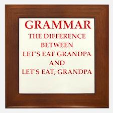 grammar Framed Tile