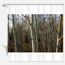 White Bark Shower Curtain