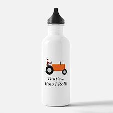 Orange Tractor How I R Water Bottle