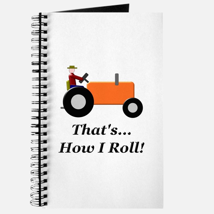 Orange Tractor How I Roll Journal
