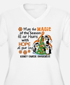 Holiday Penguins Kidney Cancer T-Shirt