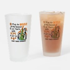 Holiday Penguins Kidney Cancer Drinking Glass