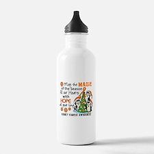 Holiday Penguins Kidney Cancer Water Bottle