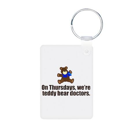 Teddy Bear Doctors Aluminum Photo Keychain