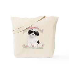 Havanese Flowers Tote Bag