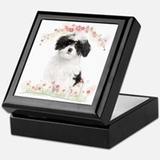 Havanese Flowers Keepsake Box