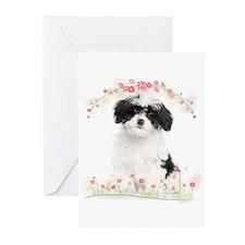 Havanese Flowers Greeting Cards (Pk of 20)